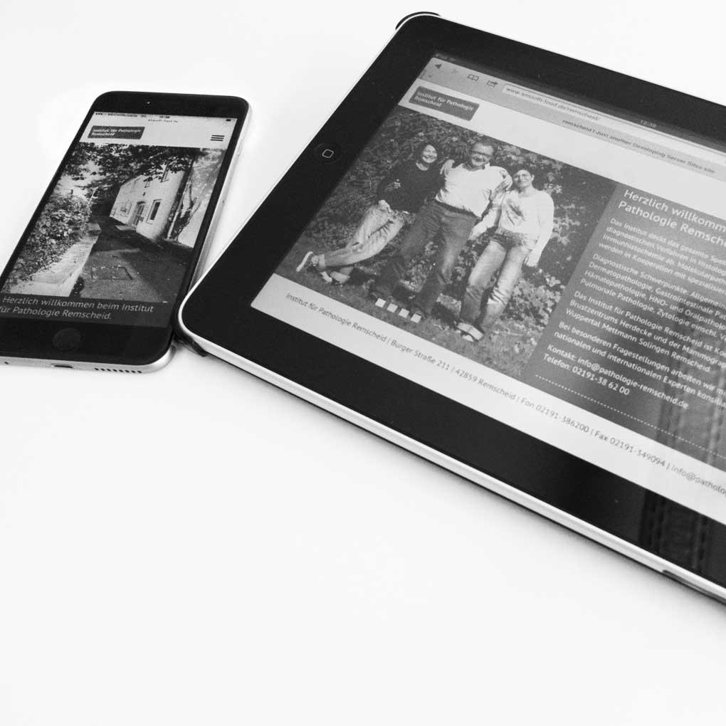 Die Seite der Pathologie Remscheid ist jetzt auch optimiert für Tablet und mobile Geräte